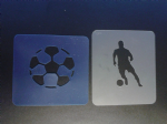 Football & football player stencils for face painting / many other uses   Premiership Championship league Chelsea